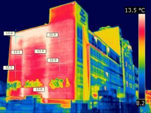 Thermografie Haus Außenfassade