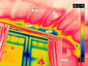 Thermografie Zimmer Wärmebrücken